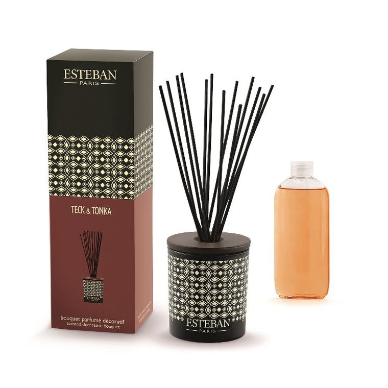 Bouquet Parfum Teck et Tonka rechargeable Esteban - 100 ml