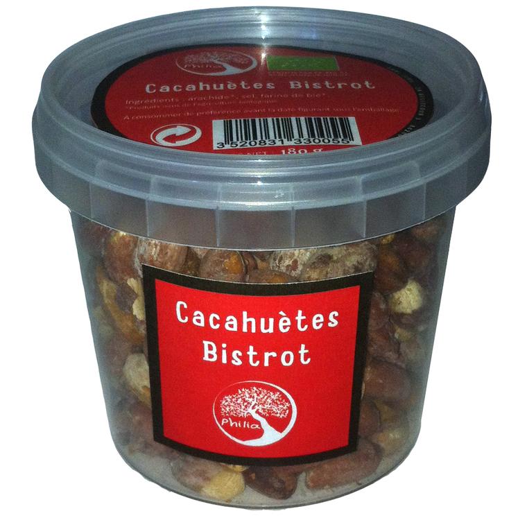Cacahuètes grillées et salées Bistrot - 180 g 217208