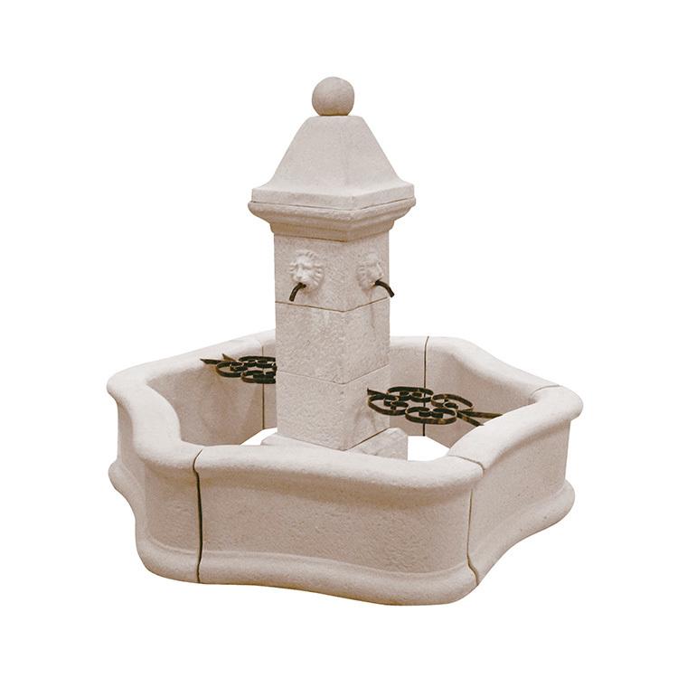 Fontaine centrale avec pompe - Provence 218481
