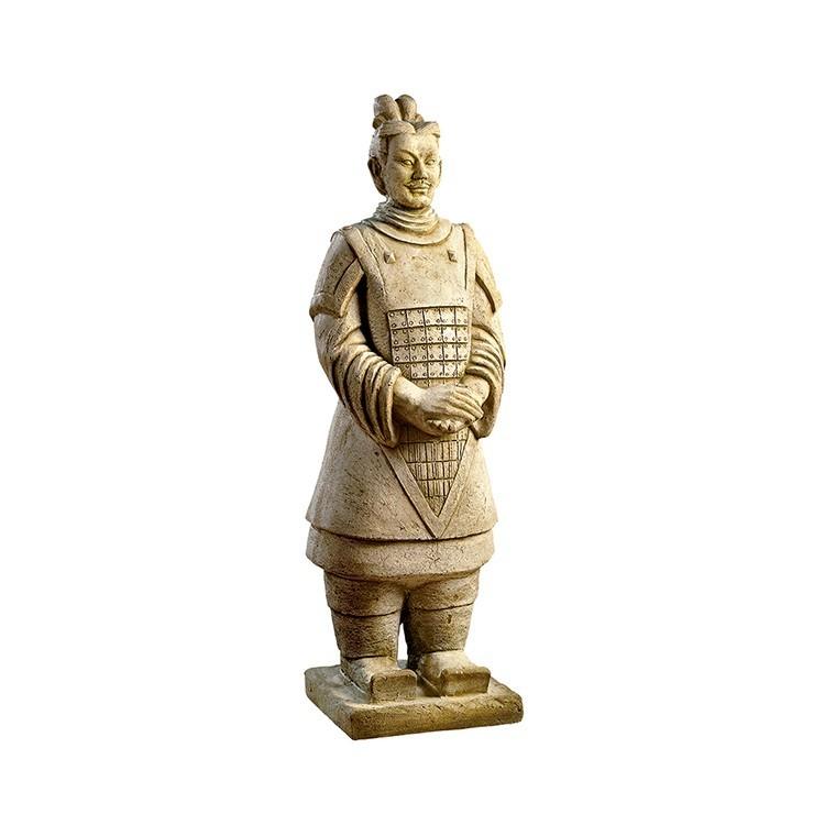 Statue guerrier chinois Xian en en pierre reconstituée 218485
