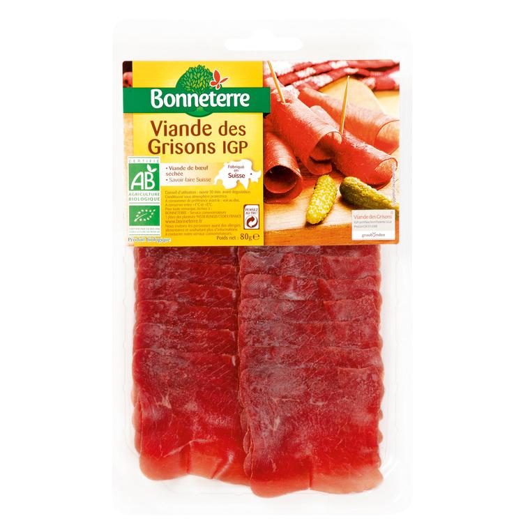 Viande des Grisons IGP Origine Suisse 80 g BONNETERRE