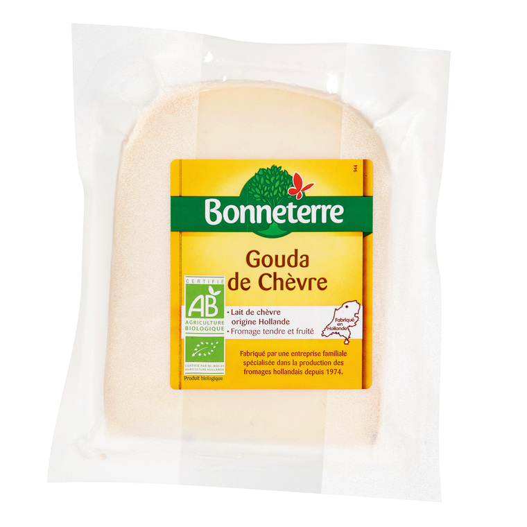 Gouda de chèvre de Hollande Bonneterre bio en portion de 250 g 218550