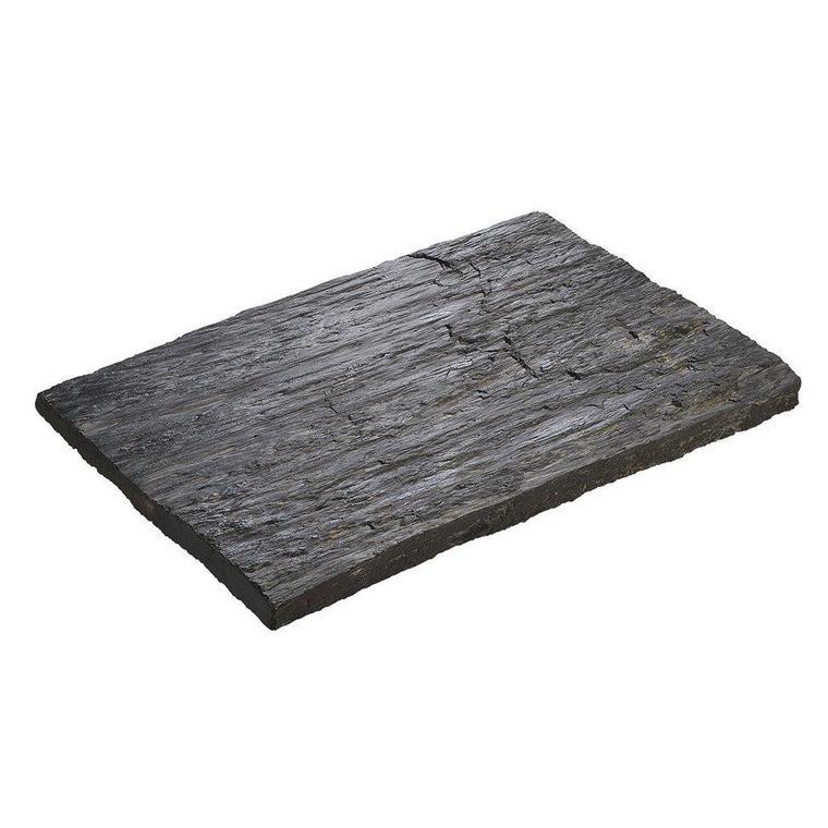 Pas de cheminement Schiste en béton coulé anthracite 40x29x3 cm 219072