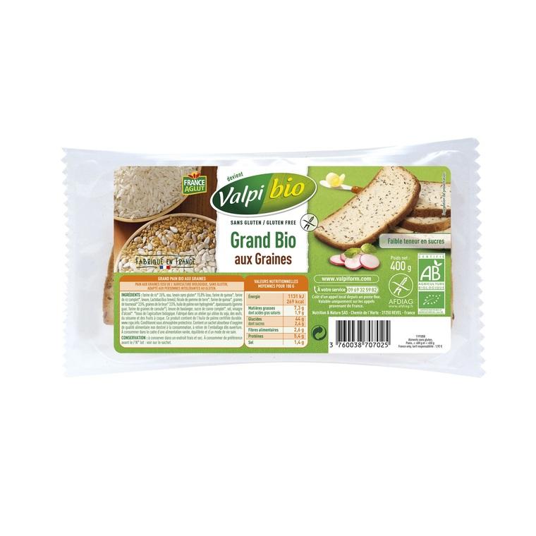 Pain Grand bio aux graines - 500 gr