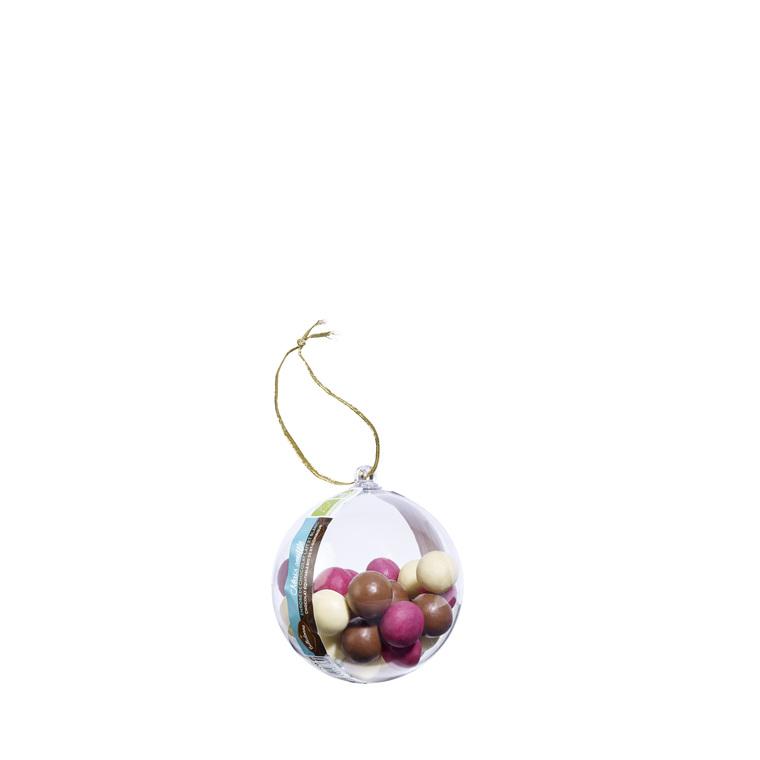 Boule de Noël transparente remplie de chocolats 221353
