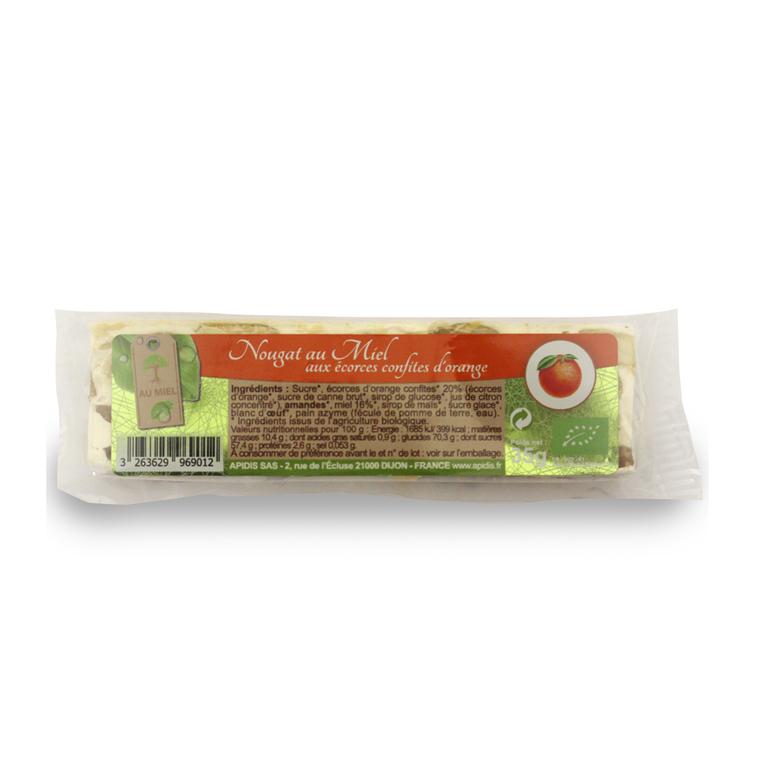 Nougat au miel et à l'orange bio en barre de 35 g 221973