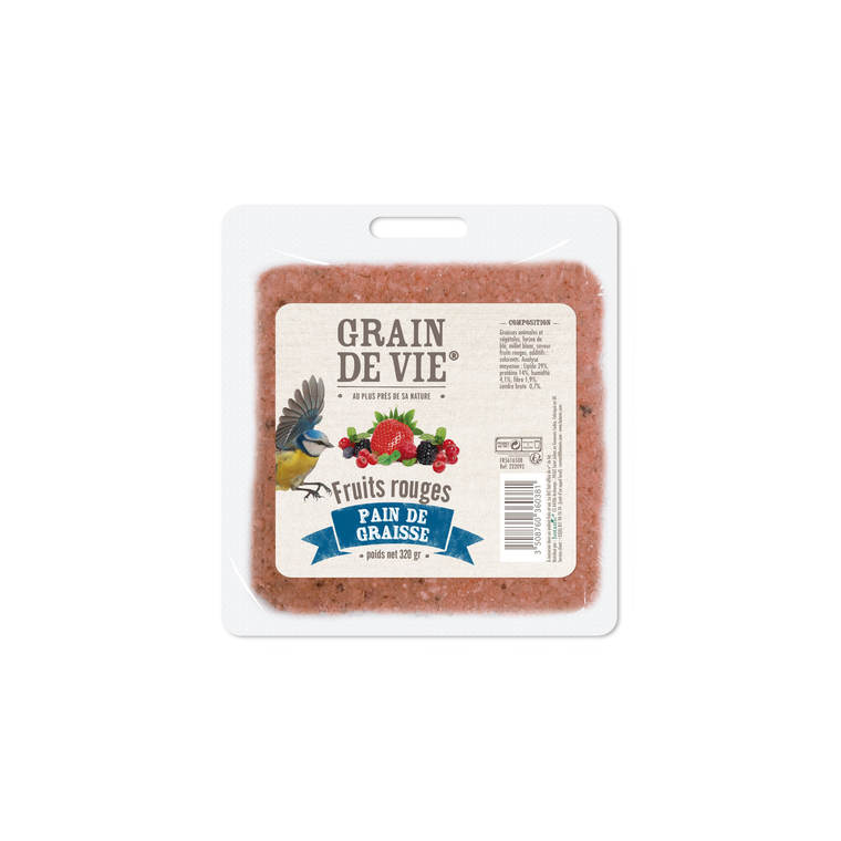 Pain de graisse aux fruits rouges de 320 g 222092