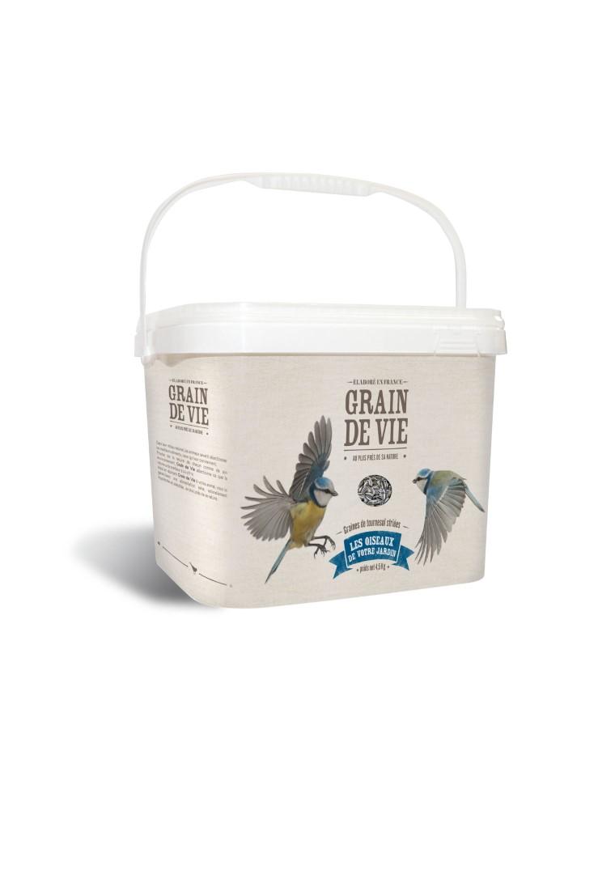 Seau graines de tournesol pour oiseaux