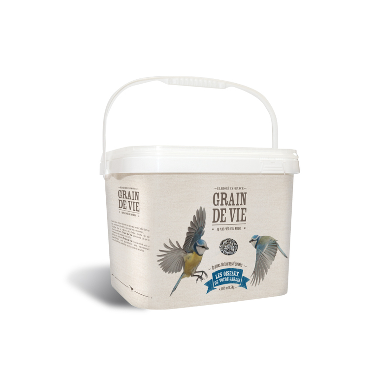 Seau graines de tournesol pour oiseaux 4,5 kg 222163