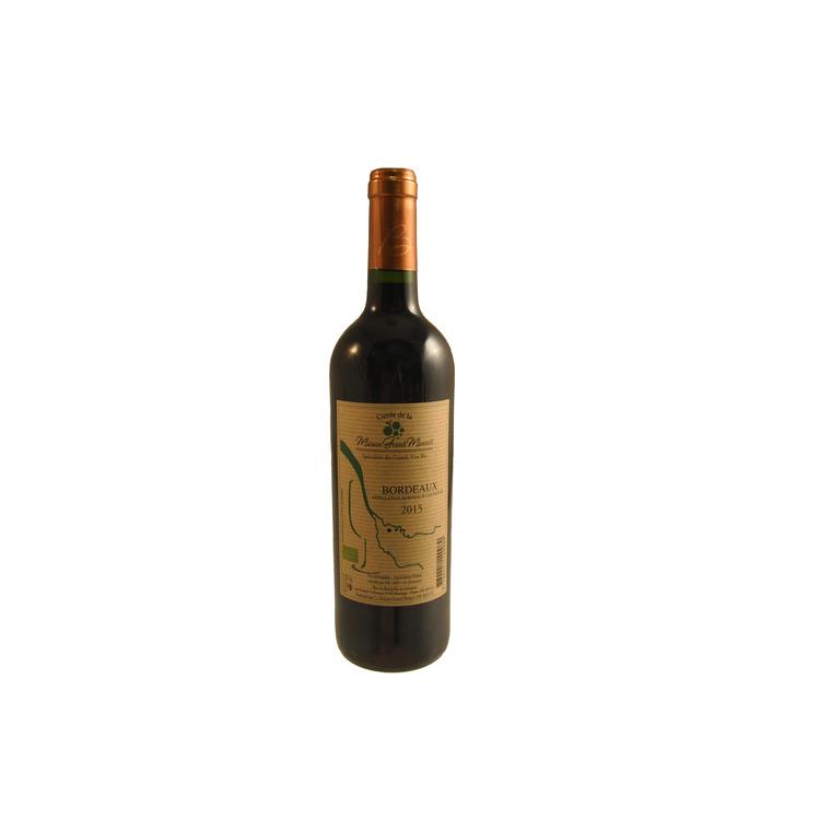 Vin rouge AOC Bordeaux 75 cl 222517