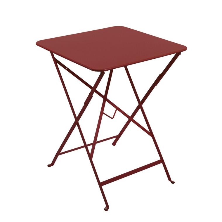 Table pliante carrée couleur piment 57 x 57 x 74 cm 222668