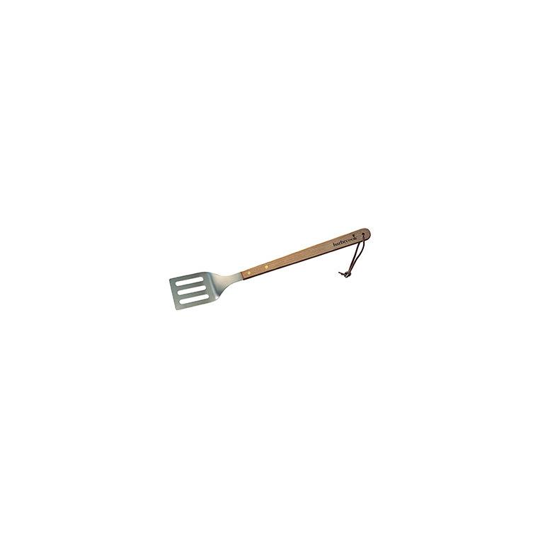 Spatule en bois et acier inoxydable pour barbecue de 46 cm