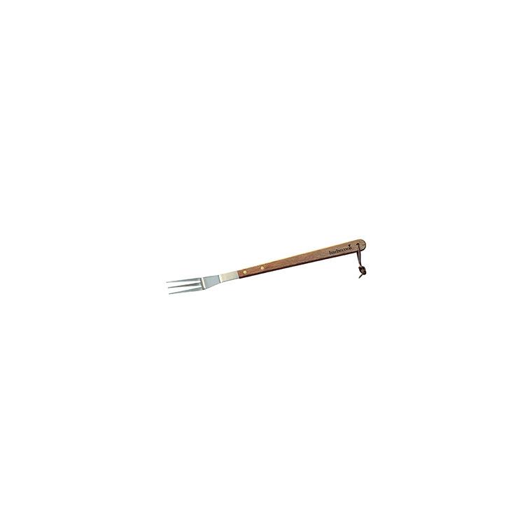 Fourchette en bois et acier inoxydable pour barbecue de 46 cm 222685