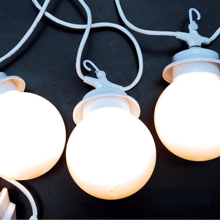 Guirlande lumineuse blanche 4 globes 222705