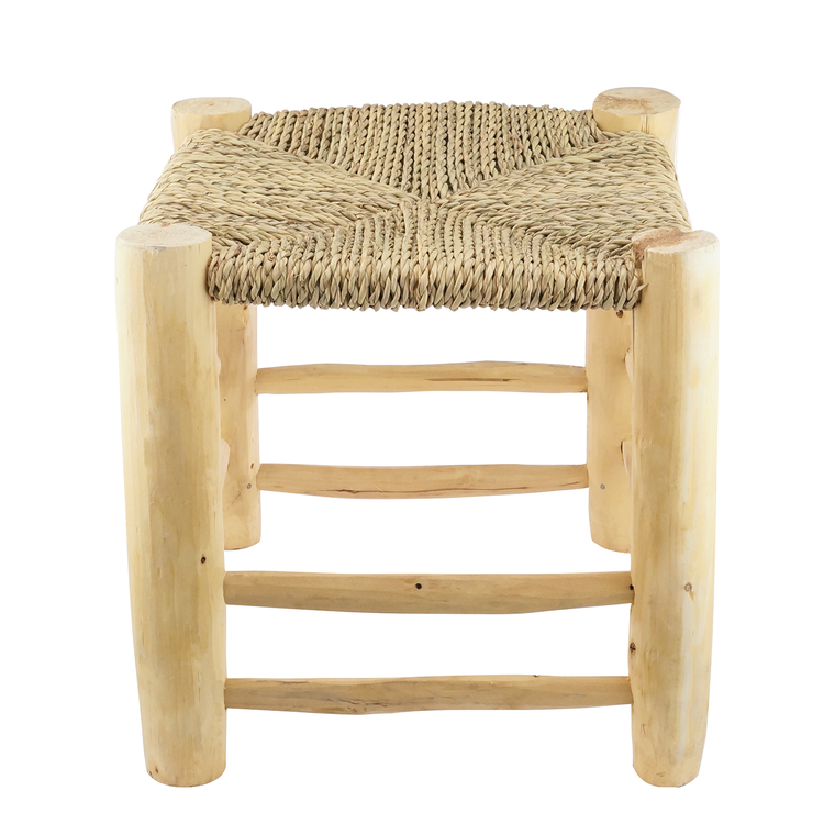 Tabouret palmier Doum en bois 30x30x32 cm - KARAWAN 223536
