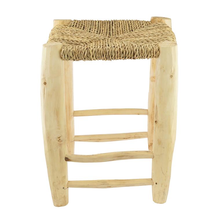 Tabouret palmier Doum en bois 30x30x42 cm - KARAWAN 223537