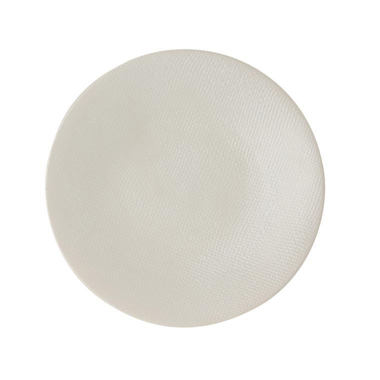 Assiette à dessert Vesuvio blanche en grès Ø 20,5 cm 223614