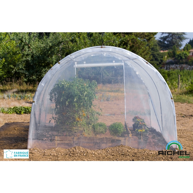 Serre de jardin en plastique transparente 6m² - 2 x 3 m 224012