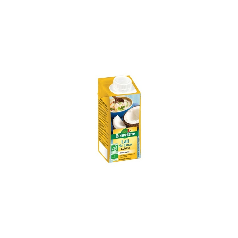 Lait de coco cuisine bio - 20 cl 224049