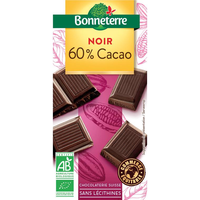 Chocolat noir 60% cacao 100 g 224050