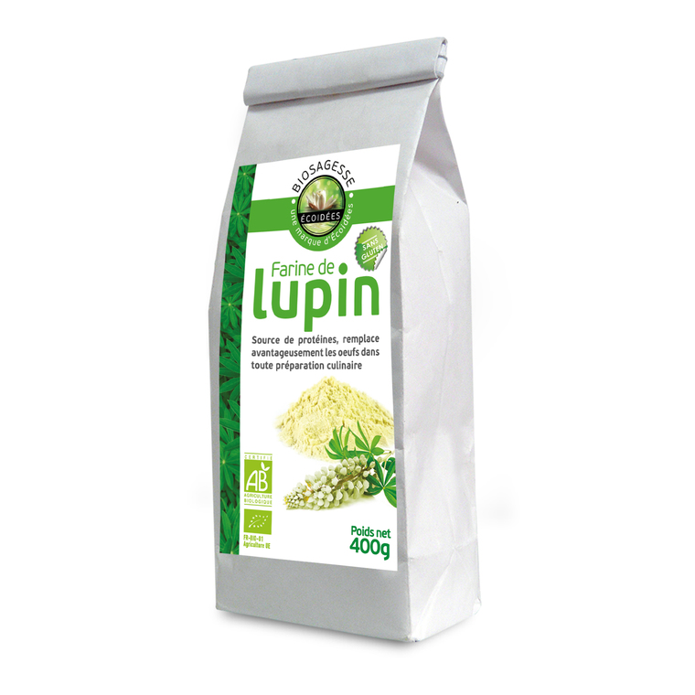 Farine de Lupin blanc bio en sachet de 400 g 224055