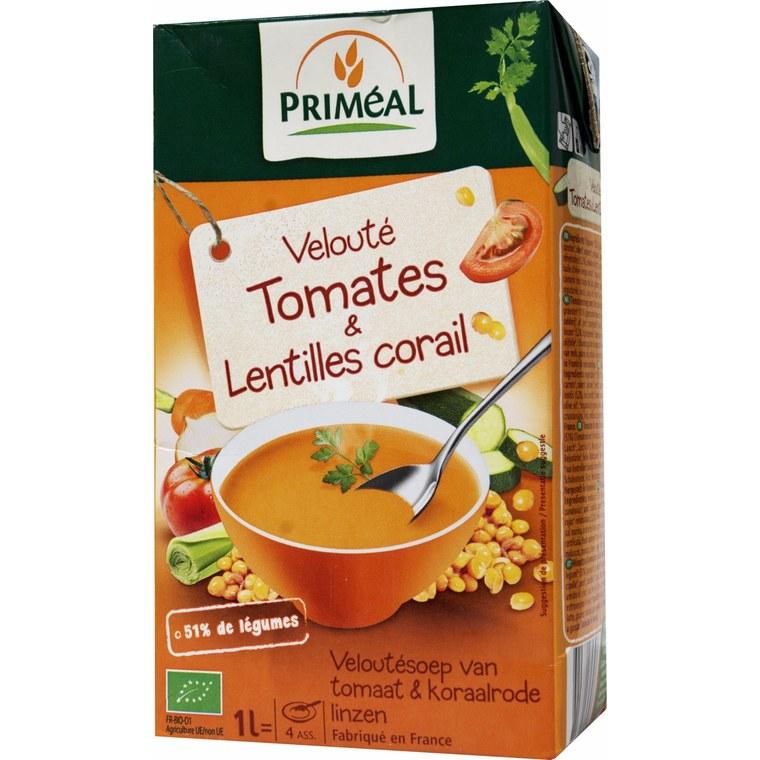 Velouté de Tomates et Lentilles bio - 1L
