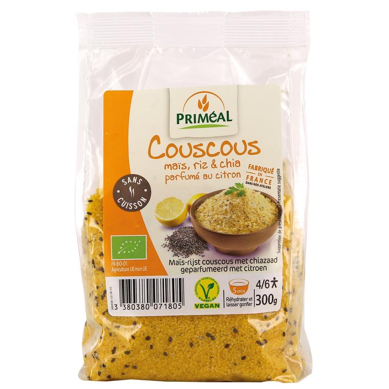 Couscous riz maïs et chia parfumé au citron 300 g PRIMEAL 224091