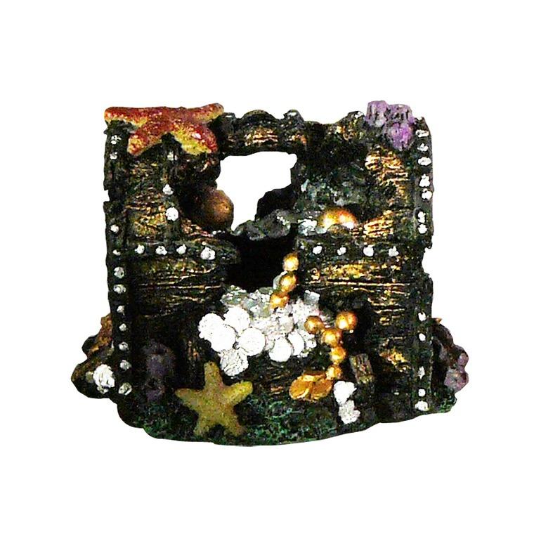 Déco Led Coffre au trésor Résine 11,5x8x8 cm 224720