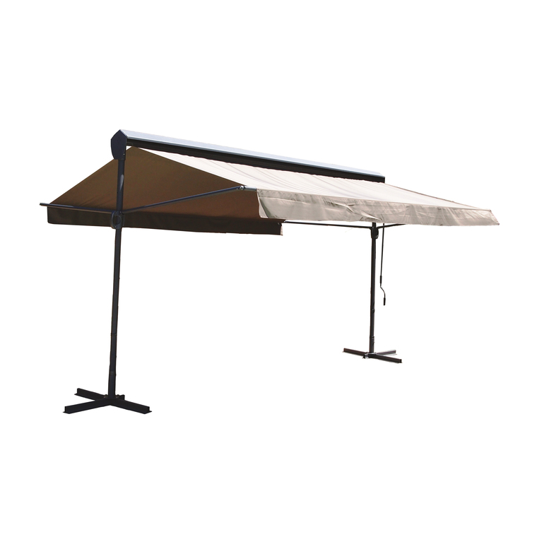 Store double pente Leandro gris 3,00 x 3,95 m 224789