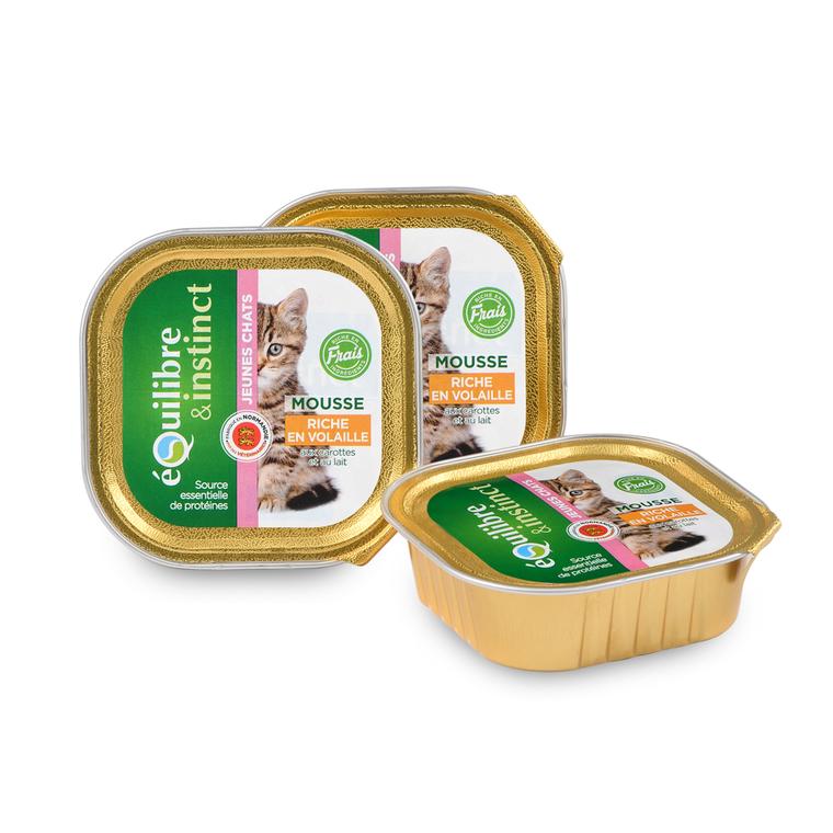 Pâtée pour chaton volaille carottes en barquette de 100 g 224848