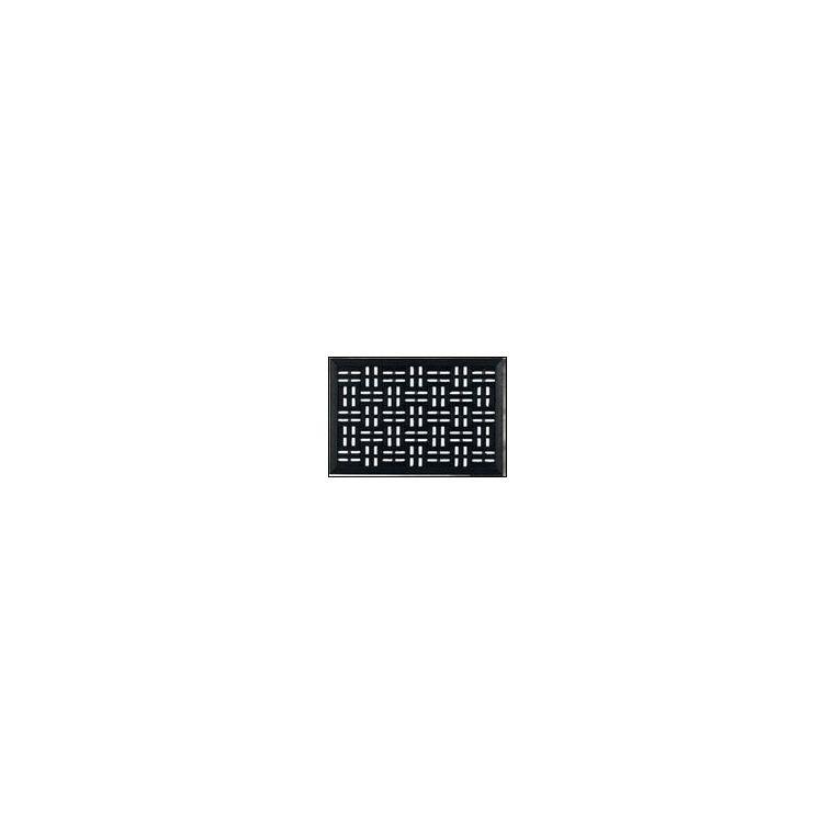 Paillasson d'extérieur Sardos noir en caoutchouc - 60 x 40 cm