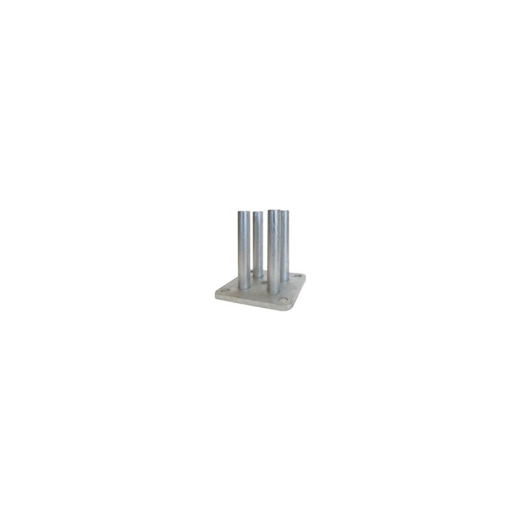 Nort Basfix Floor Galv (base pour poteau) 226041