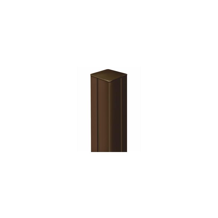 Poteau Nort Alupost 120 RL en aluminium, coloris rouille H 1,2m 226043