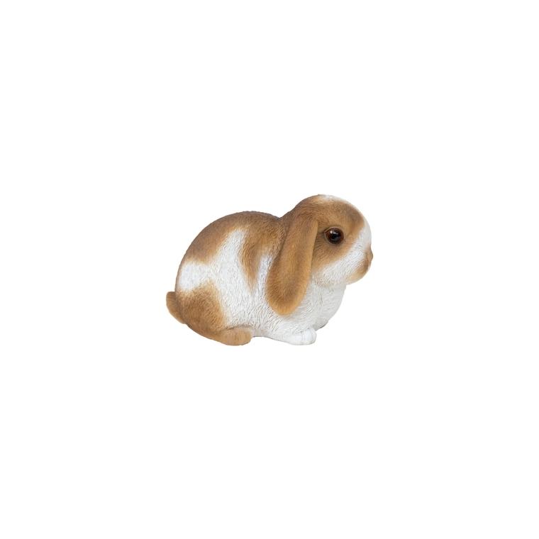 Petit lapin marron et blanc 16,5x10x10,5 cm 226094