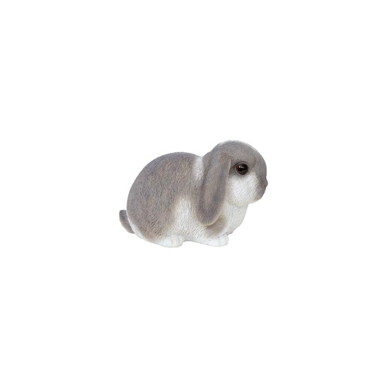Petit lapin gris et blanc 16,5x10x10,5 cm 226096