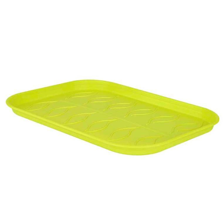 Soucoupe verte taille L pour plateau de culture 18,8 x 50,9 cm 226291