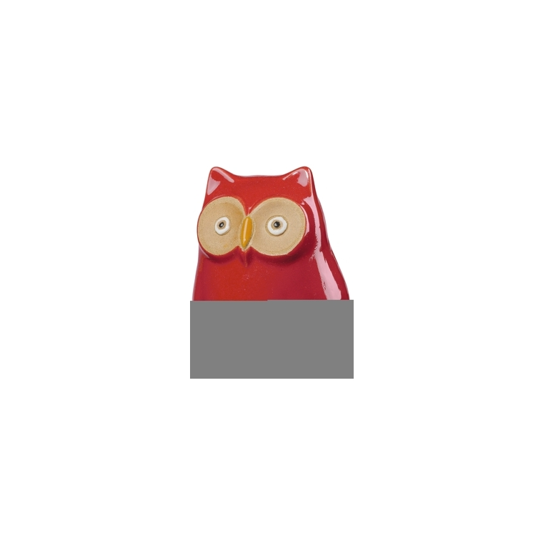 Hibou Mini-Bubo Rouge H10 cm 226920