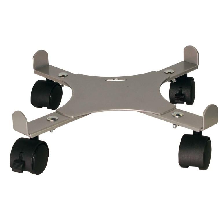 Support 4 roulettes extensible gris alu 34 à 51 cm