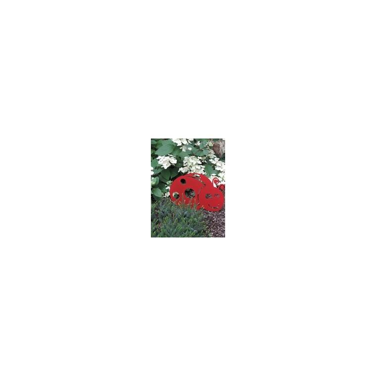 Figurine à piquer coccinelle rouge 33 x 21 hors-sol 226987