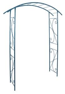 Arche double de jardin décor volute bleu-gris 227000