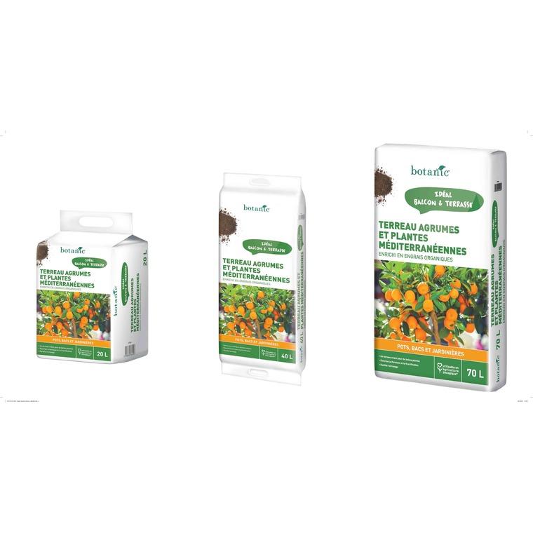 Terreau agrumes et plantes méditerranéennes 20 L 227046