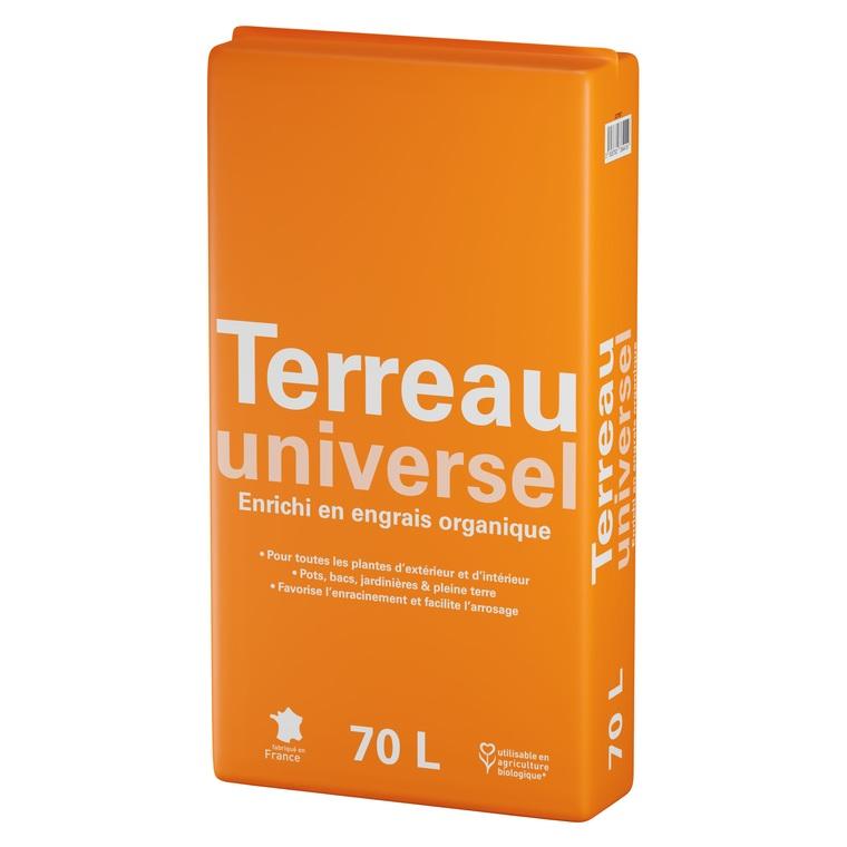 Terreau universel enrichi en engrais organique 70 L 227057