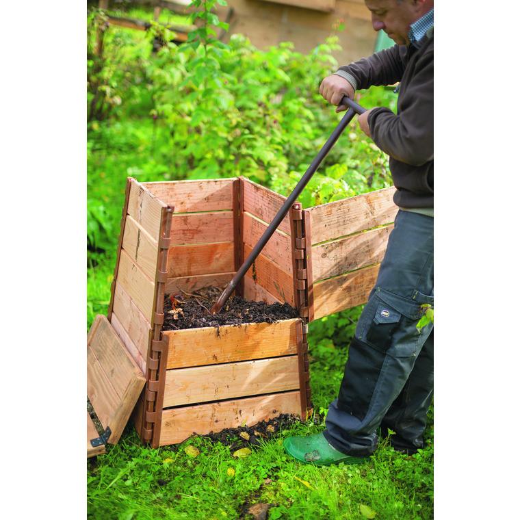 Composteur en bois botanic® avec couvercle - 150L (50 x 50 x 75 cm) 227648