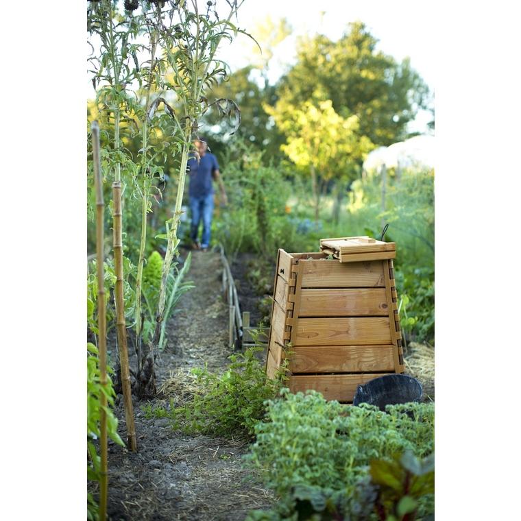 Composteur en bois avec couvercle botanic® - 300 L  227649