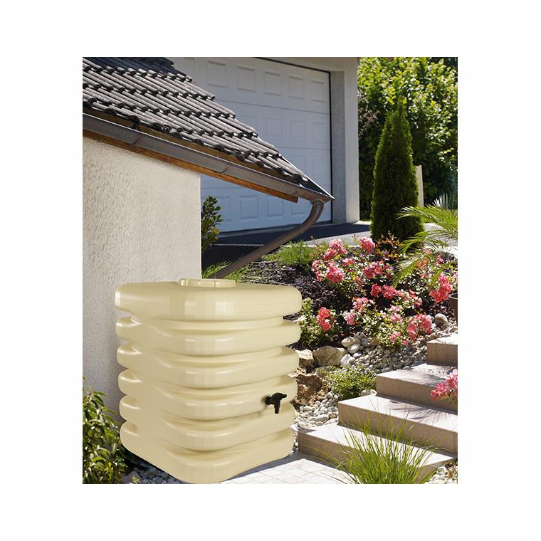 Récupérateur à eau cubique 1000 litres beige 227666