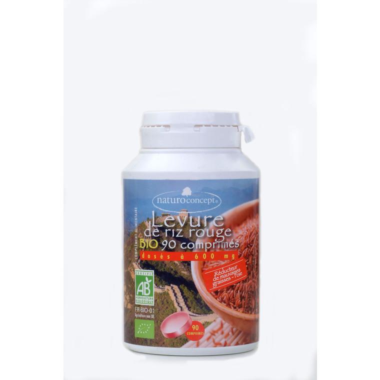 Levure de riz rouge bio en boite de 90 gélules 227715