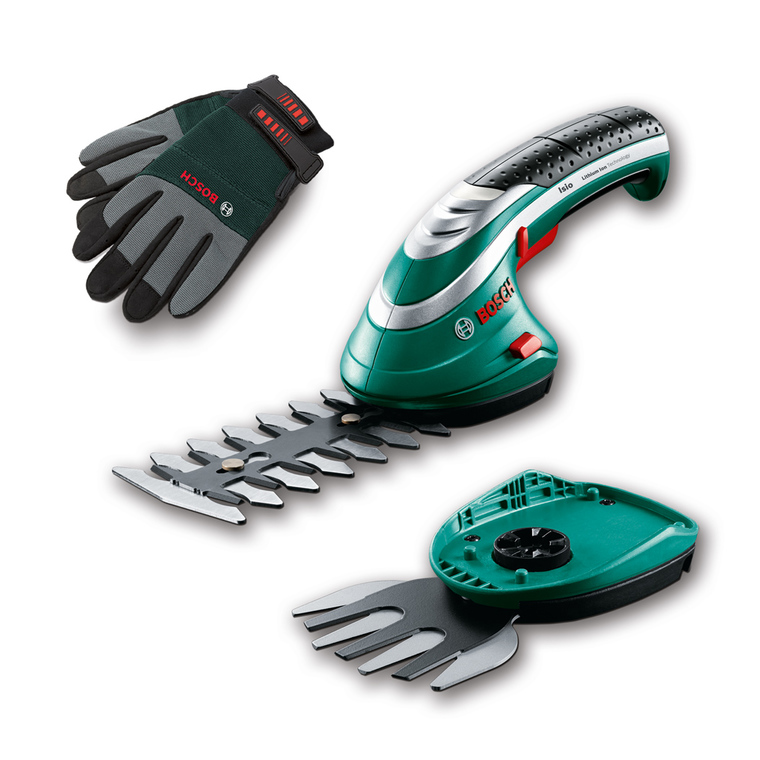 Cisailles Isio Set 2 lames BOSCH + gants 3,6 v