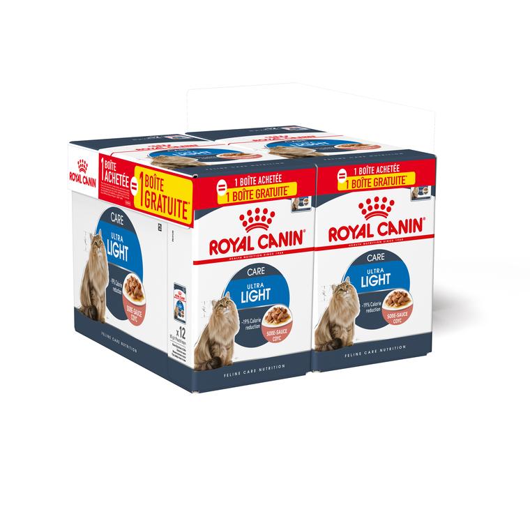 Ultra light Bouchées pour chat 2 lots de 12 sachets 85 g