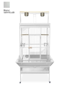 Cage perroquet large Blanche