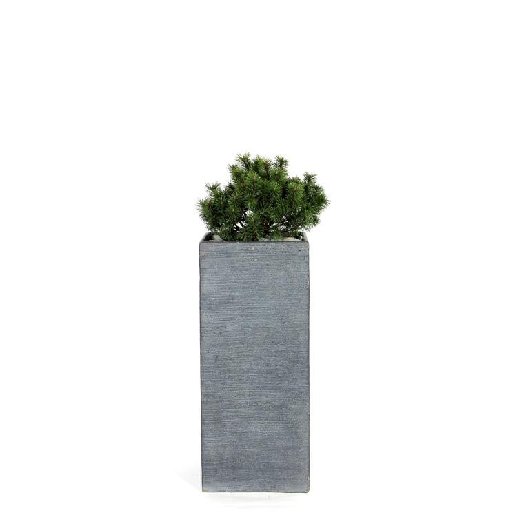 Pot carré haut Stream S/3 anthracite H.70 cm 230311